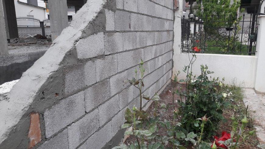 Yıkılan Bahçe Duvar Tadilatımız